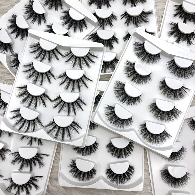 Buzzme 4 pairs wholesale 10 pack/lot natural false eyelashes long makeup 3D faux mink lashes eyelash extensions silk lashes