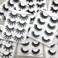 Buzzme 4 pairs wholesale 10 pack/lot natural false eyelashes long makeup 3D faux mink lashes eyelash extensions silk lashes