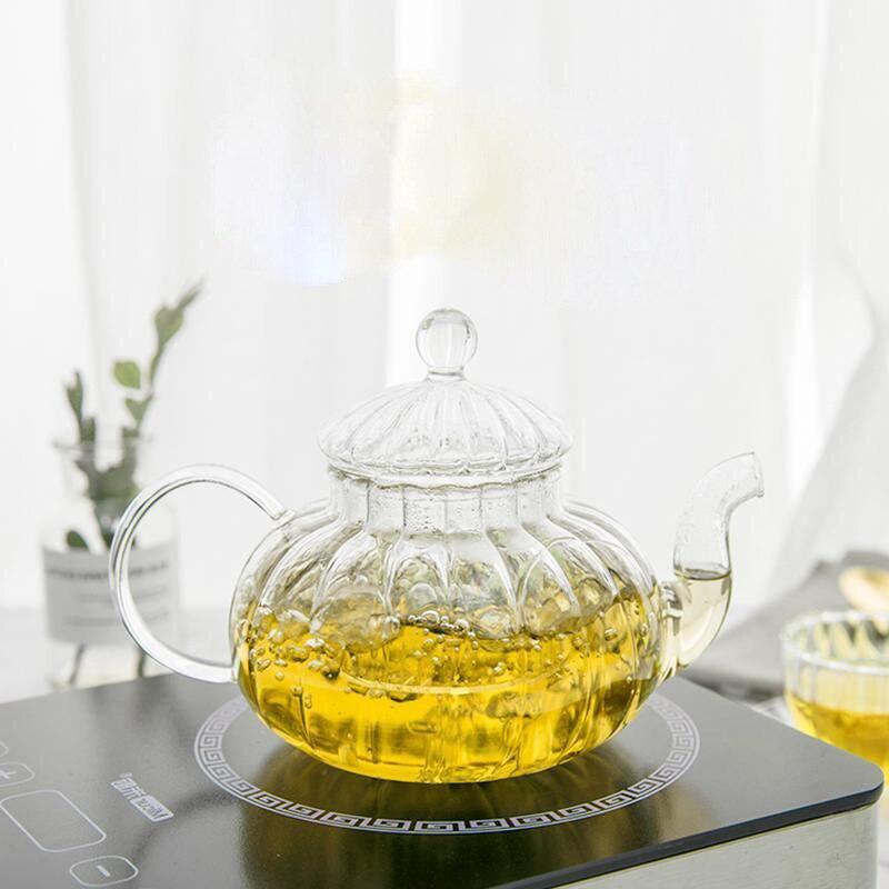 Isıya dayanıklı cam çaydanlık kaynar cam çizgili kabak Pot anti-çatlak yüksek sıcaklığa dayanıklı saksı özelleştirilebilir