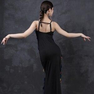 Image 2 - Latin Dance Dress Costumes Latin Dancing Shinning Women Latindance Night Club Set Competition Latino Long Dresses Big Sequins