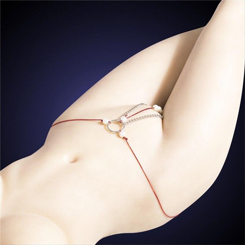 Sexy Lingerie T-back Panties Panty Adult Games Fetish Dress Beads Massage Clitoris Erotic Sexy G Strings For Women Bdsm Bondage