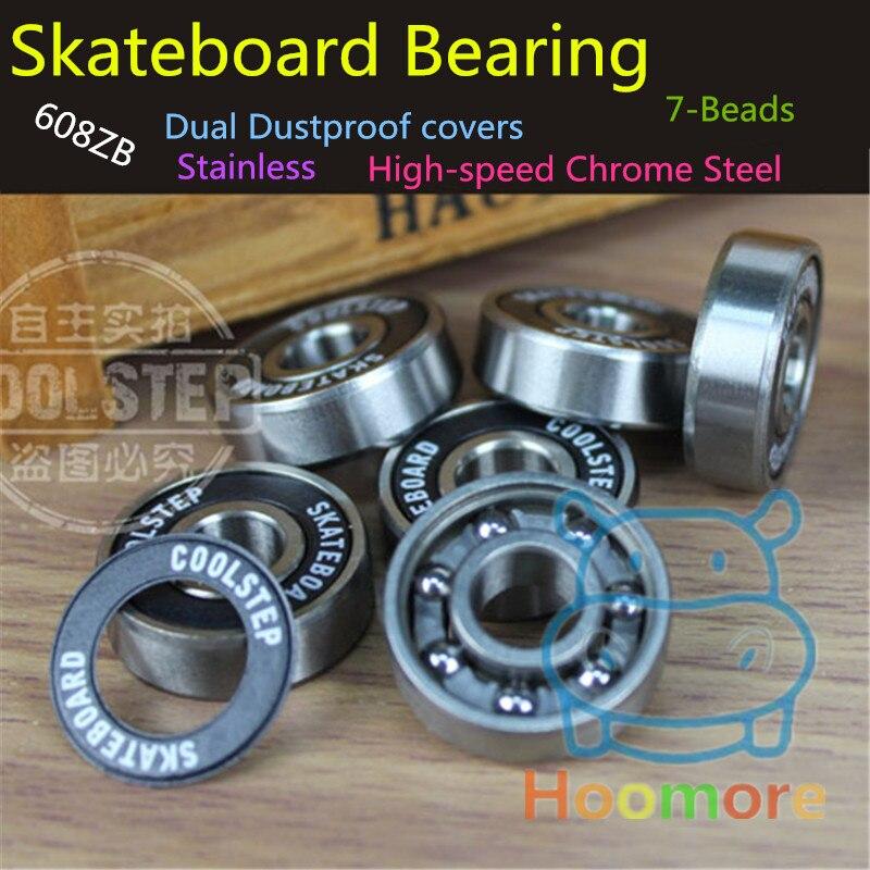 Branded Skateboard Bearing ABEC11 For Skate Drift Board 8mm*22mm*7mm 608ZB Bearings