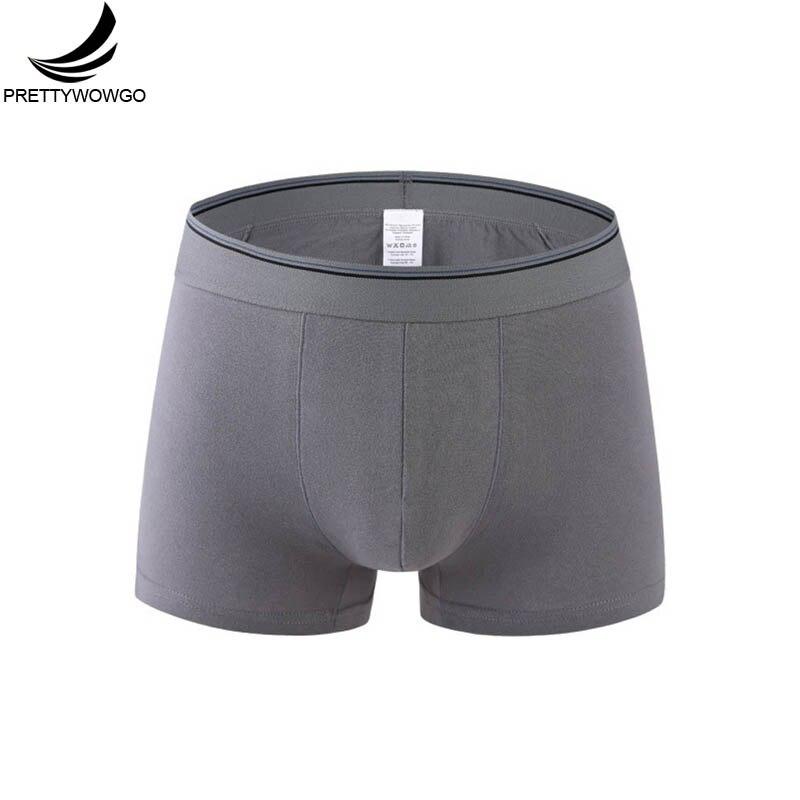Prettywowgo Underwear Men Solid Color Cotton Plus Size Man Boxer M 4XL 5XL 6XL 2425
