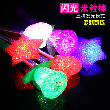 Plastic LED Flashing Glow Stick Wand Children Star Fairy Kids Toy flashing sticks colorful glow stick show propToy