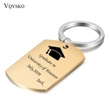 Luxury Keychain Customize Jewelry Stainless-Steel Graduation-Anniversary Best Wholesale