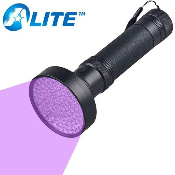 UV 100 Leds Flashlight 395nm Ultra Violet Torch Light Lamps Blacklight Detect RA