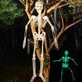 Светящийся череп, скелет, тело, страшная игрушка на Хэллоуин, дом с приведениями, флуоресцентная Новинка, игрушки, забавная Новинка #50, 32 см