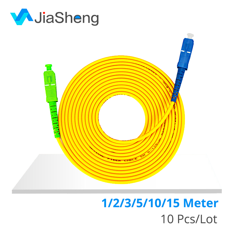 10 pz/borsa SC/APC-SC/UPC Simplex monomodale fibra ottica patch cord cavo di 3.0 millimetri in fibra ottica FTTH cavo di ponticello trasporto libero