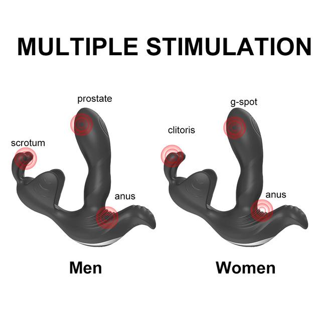 7 SPEED WEARABLE MULTIPLE STIMULATION DILDO VIBRATOR