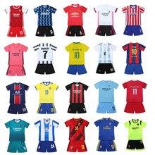 Conjuntos de roupas de futebol terno esportivo para crianças roupas crianças menina meninos agasalho feminino verão 2 a 7 anos