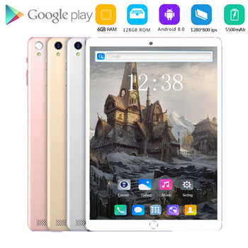 2021 New 10 inch Tablet PC Octa Core Android 8.0 WiFi Dual SIM Cards 4G LTE Tablets 10 8GB RAM 128GB ROM+Youtube/Games Support image