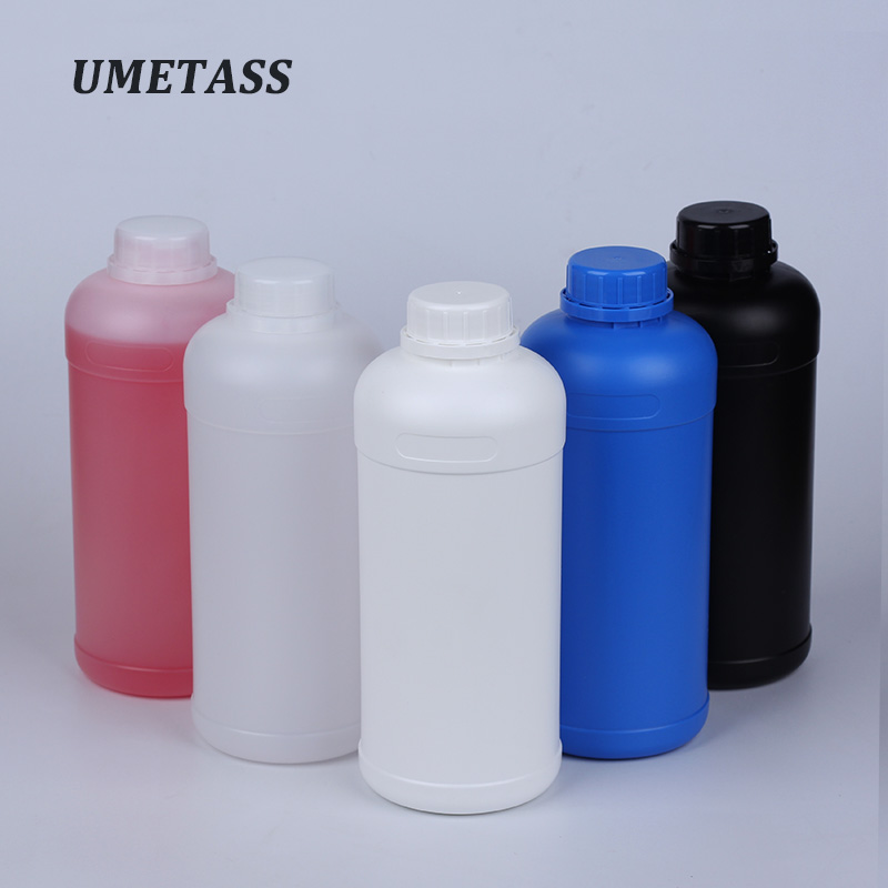1000mL HDPE Plastic Bottle With Screw Cap Empty Container For Liquid,shampoo,Lotion Travel Refillable Bottles Hot Sell