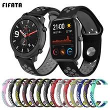 FIFATA 22/20mm Silikon Strap Für Amazfit GTR 47/42mm Sport Armband Für Xiaomi Amazfit GTS /BIP/Stratos/Tempo Handgelenk Armband