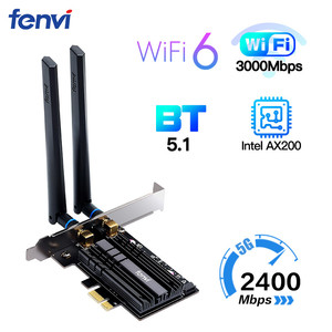 Image 1 - デュアルバンド2.4 5gbpsワイヤレスwifi 6アダプタAX200 bluetooth 5.1 802.11axデスクトップpci e無線lanカード用のAX200NGWネットワークwlanカード