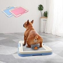 Портативный унитаз для дрессировки собак, горшок для домашних животных для маленьких собак, кошек, ящик для туалета, подставка для щенков, п...