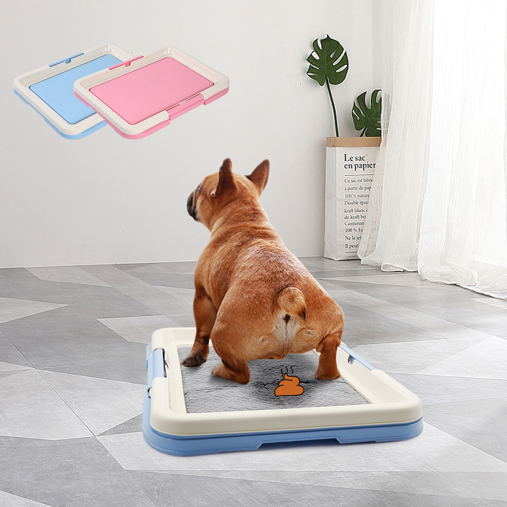 Portable Dog Training Toilet Indoor Dogs Potty Pet Toilet For Small Dogs Cats Cat Litter Box Puppy Pad Holder Tray Pet Supplies