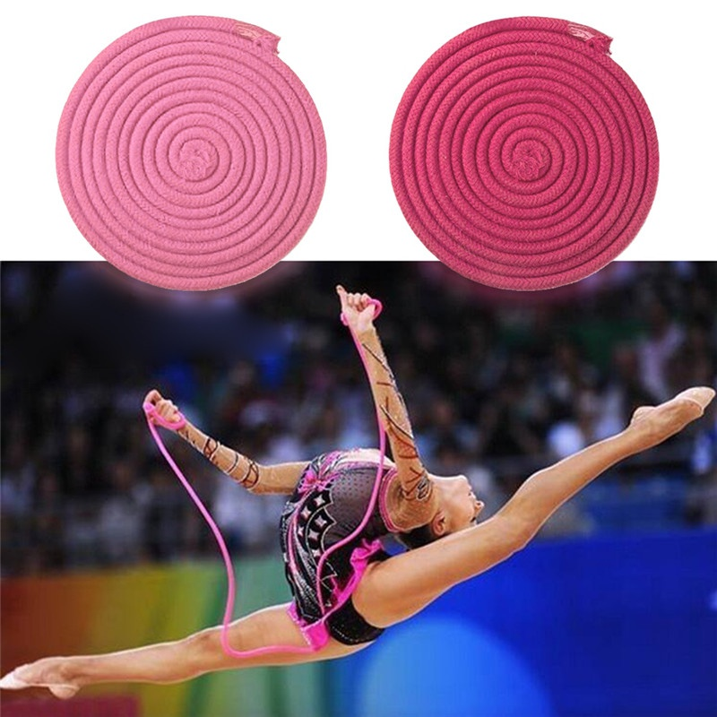 Gym Rainbow Color Rhythmic Gymnastics Rope Solid Competition Arts Training Rope Gymnastics Rope Professional Sport Tools