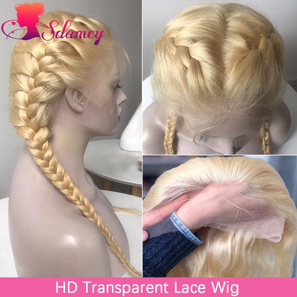 Парик HD Прозрачный Светлый 13x4 13x6, парик из человеческих волос на сетке спереди, бразильские прямые волосы 4x4, парики из человеческих волос 613,...