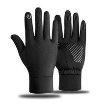 Sports-Gloves Fleece for Men Women Driving Touch-Screen Non-Slip Motorcycle Warm Outdoor