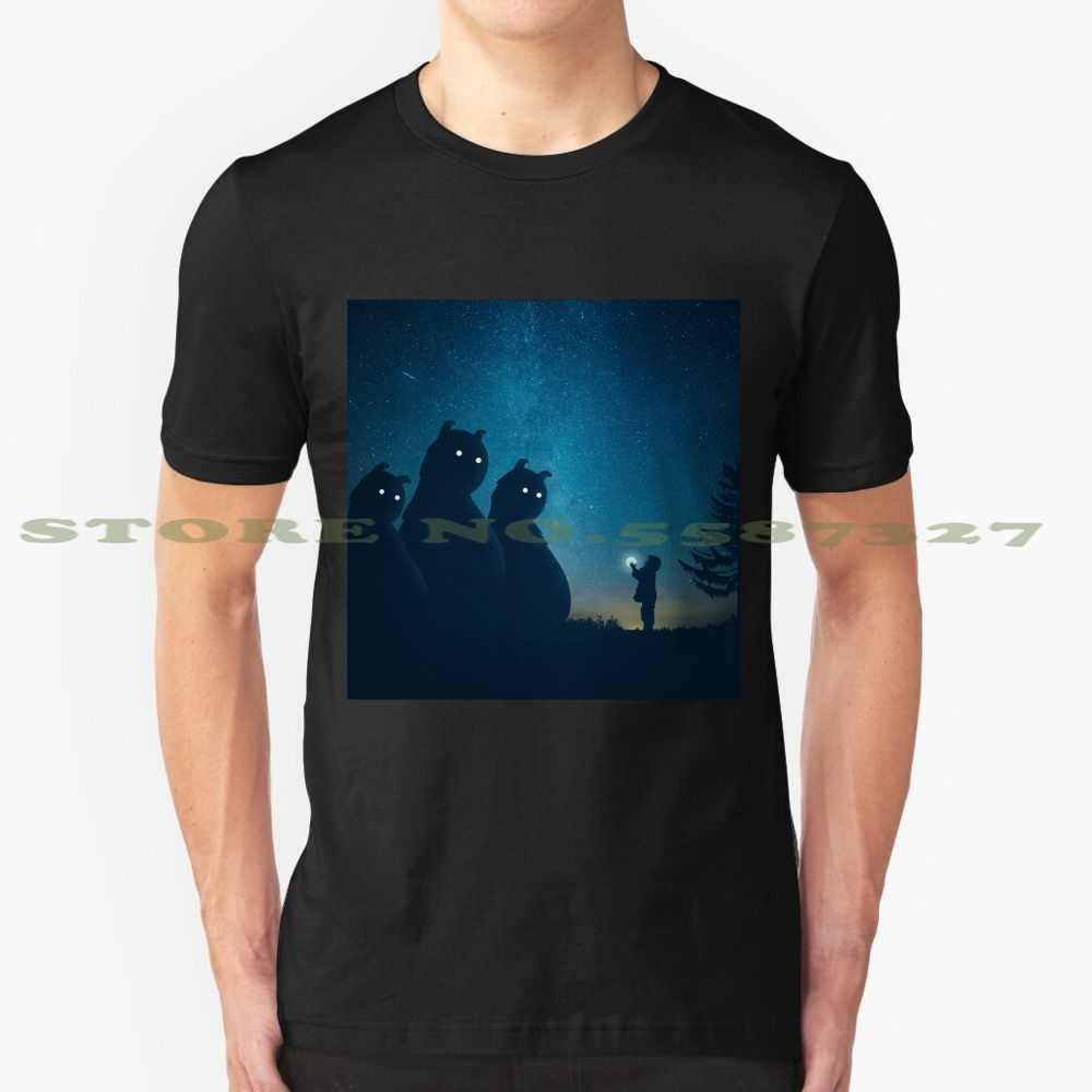 Подарок (синий) крутой дизайн, модная футболка, футболка с монстрами, Hotamr, Amr, Elshamy, звёзды, Ночная Луна, пейзаж, вектор, синее постельное время для мальчика