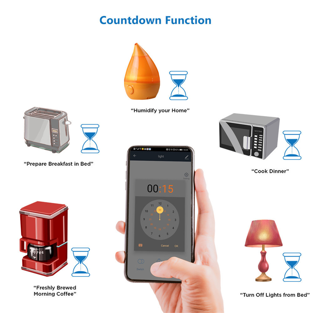 Ha9199d849d3b41e996128c9aa1ad29522 - Rubrum WiFi Push Switch Light 433Mhz Wall Remote Relay Timer Module Automation Tuya Smart Life APP For Google Home Amazon Alexa
