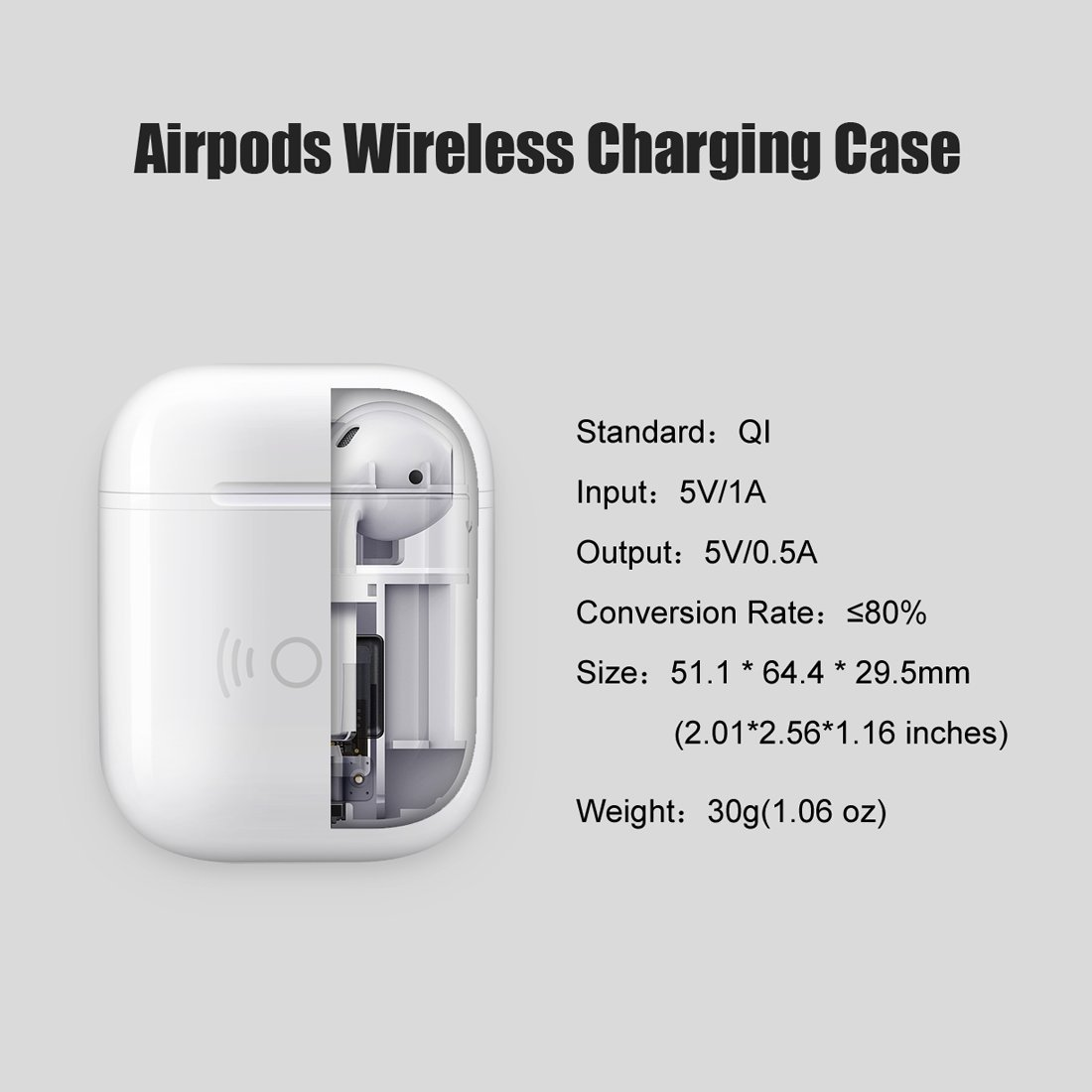 Charging Case Compatible With Airpod 450ma Built In Battery