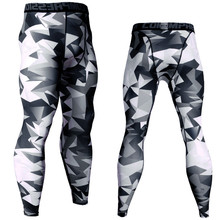 Trousers Compression-Pants Running-Tights Jogging Male Fitness Training Gym Sportswear
