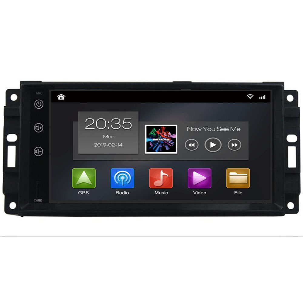 2din Auto Radio Android 9.0 Car DVD Player For <font><b>Chrysler</b></font> <font><b>300c</b></font> jeep Compass/Dodge/RAM/Grand Cherokee Wrangle GPS Navi Head Unit image
