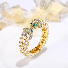 Bracelet panthère femmes Animal cristal léopard bracelets pour femmes fête bijoux cadeau rétro chaud joyas de leopardo