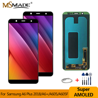 Super AMOLED For Samsung Galaxy A605 LCD Display Touch Screen Digitizer Assembly Replacement For Samsung Galaxy A605F A605FN LCD