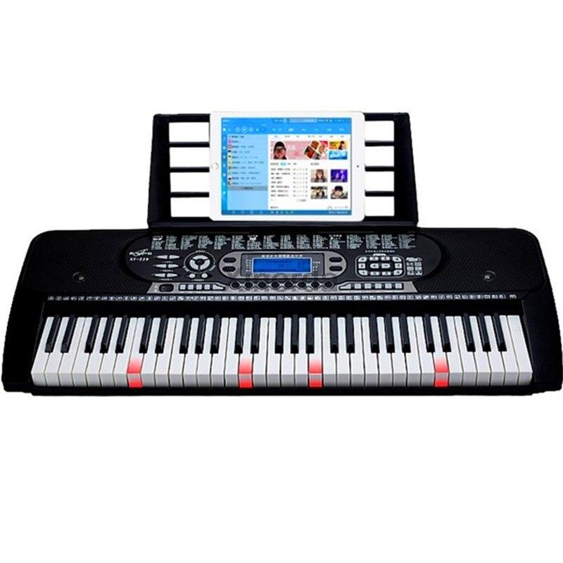 Teclado de Música Eletrônico para Crianças Chave Multifuncional Digital Piano Elétrico Placa Iniciante Presente 61 Mod. 309074