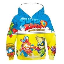 High Quality Hoodie Cartoon Sweaters Spring Tee Girl Baby Boys Clothes Kids Sweatshirt Superzing Hoody Children Casual Clothing