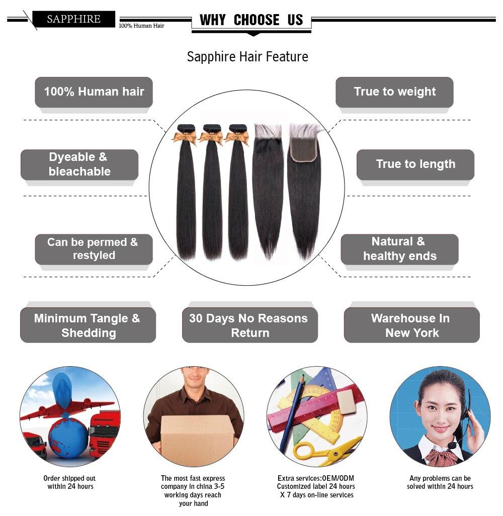 Ha91a0902d3814bf3a7e5bdaa0483ad12X Sapphire Straight Bundles With Closure Brazilian Hair Weave Bundles With Closure Human Hair Bundles With Closure Hair Extension