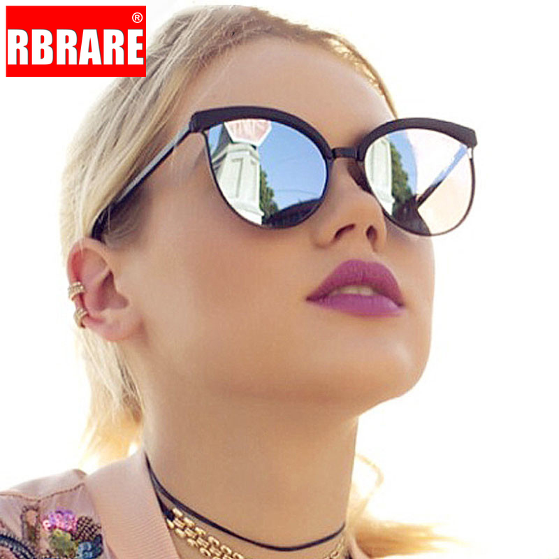 RBRARE 2019 Classic Simple Cat Eye Sunglasses Women Luxury Plastic Sun Glasses Classic Retro Lunette De Soleil Femme UV400