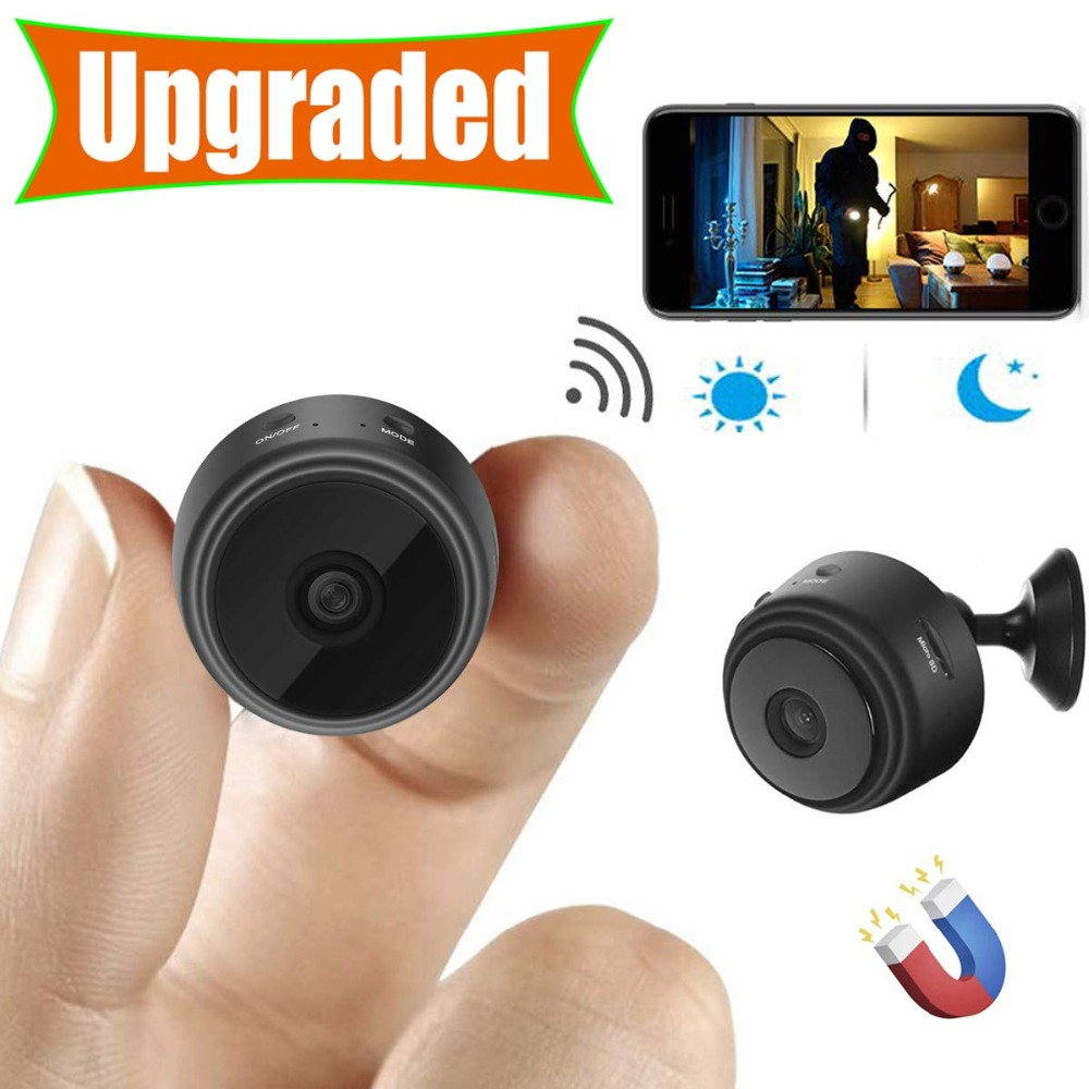 Mini Camera Surveillance-Camera Remote-Monitor Phone-App Wifi Night-Vision Hidden Wireless title=
