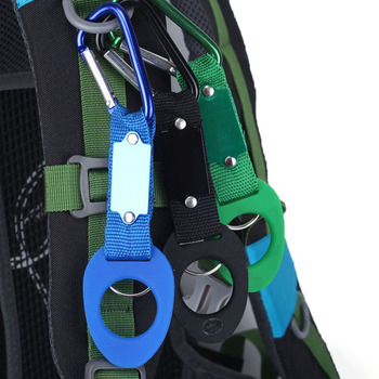 Carabiners Molle Backpack Buckle Rubber Water Bottle Hanger Holder Attach Quickdraws Outdoor Camping Hiking Climbing Accessories image
