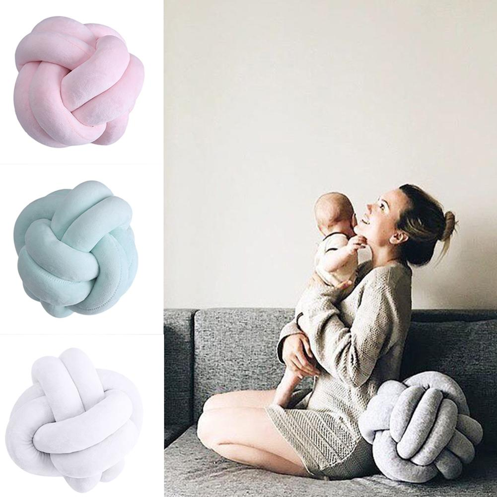 Creative 18cm Knotted Ball Throw Pillow Waist Back Cushion Home Sofa Bed Decor Cushion Bed Sofa Home Decor Dolls Toys For Kids