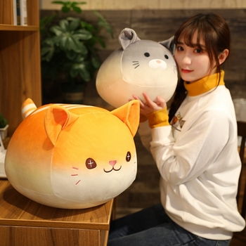 1PCS 30/40cm cute bread dumplings cat plush toy super soft fat cat stuffed doll pillow sofa bedroom pillow home decor chi s cheese cat private sweet cat papa big eyes cat plush toy doll kids toy home pillow