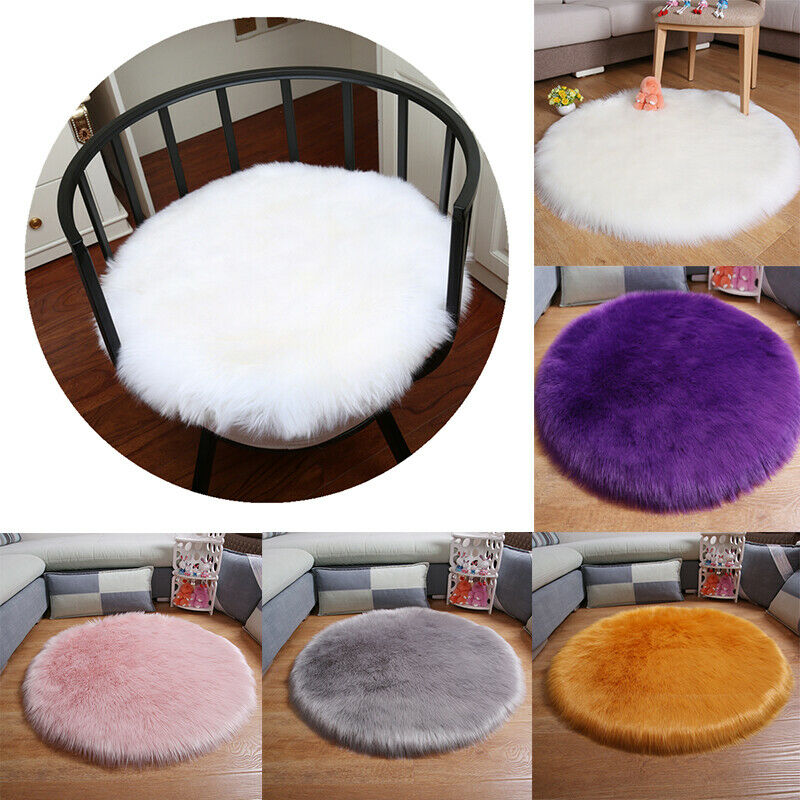 30/45/60CM Soft Artificial Sheepskin Rug Chair Cover Bedroom Mat Artificial Wool Warm Hairy Carpet Seat Textil Fur Area Rugs