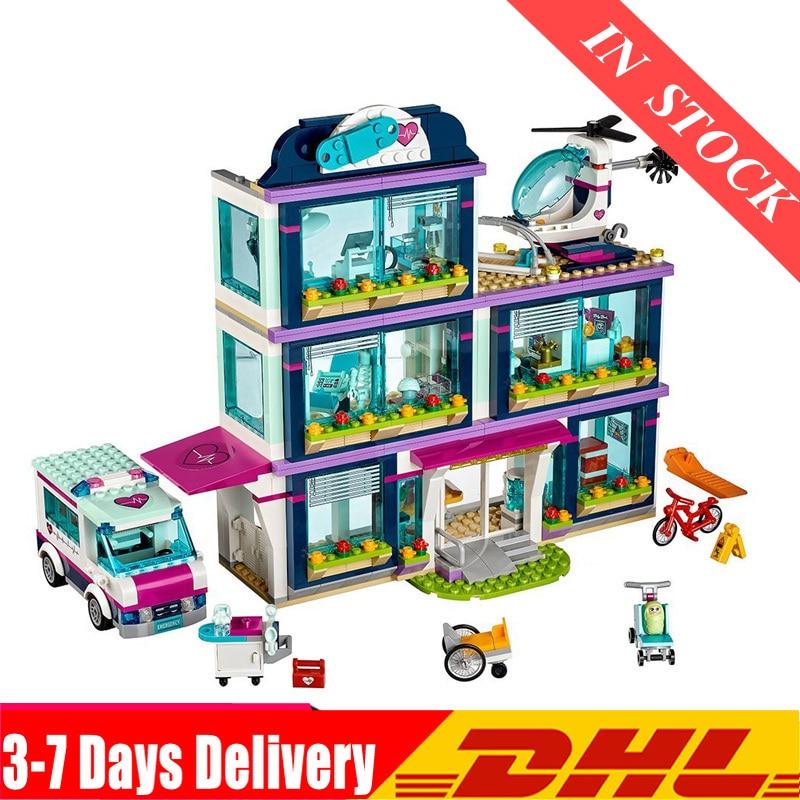 01039 Friends Girl  Building Blocks 932pcs Bricks toys Heartlake Hospital Bricks Toy Girl Model Sets Compatible 41318 1