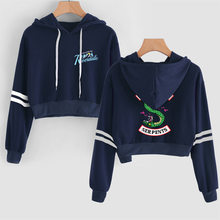 Hot fashion Print Riverdale Hoodie Harajuku crop top shirt Female Hoodies long sleeve Hoodies Sweatshirts women casual hoodies(China)