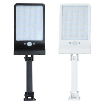 48LED Solar Motion Sensor Wall Light Outdoor Street Lamp with Remote Control Waterproof Garden Street Lamp Adjustable Brightness