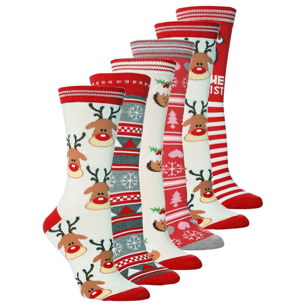 Unisex christmas   socks   Casual Cute Cartoon Thickness Stockings Sleeping   Socks   funny   socks   calcetines mujer носки женские#C20