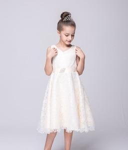Image 3 - Kids Princess Party Dress for Girls Tutu Mesh Costume Birthday Ball Gown Lace Children Bridesmaid Elegant Dress Evening Girls