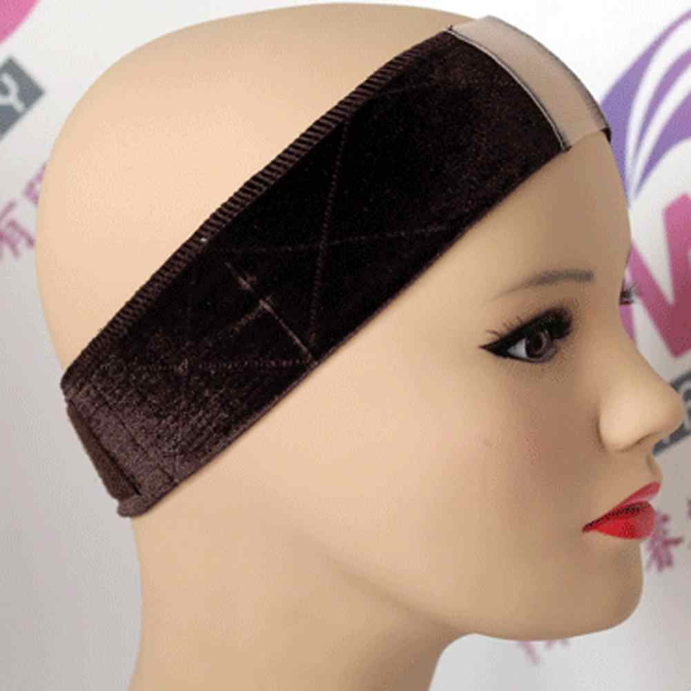 Women Velvet Wig Accessories Grip Scarf Headband Adjustable Fastener Hair Band Solid Color  Comfortable Wig Accessory Headband