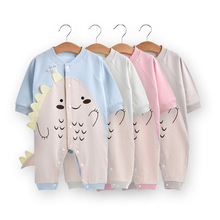 Rompers Bodysuit Cartoon Buttons Toddler Girl Baby-Boys Full-Sleeves for with Fall Soft