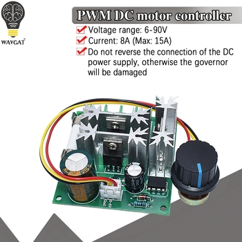 1000W 15A Poleless speed-adjusting DC motor controller general DC 6V to 90V pwm dc motor speed controller PLC Module image