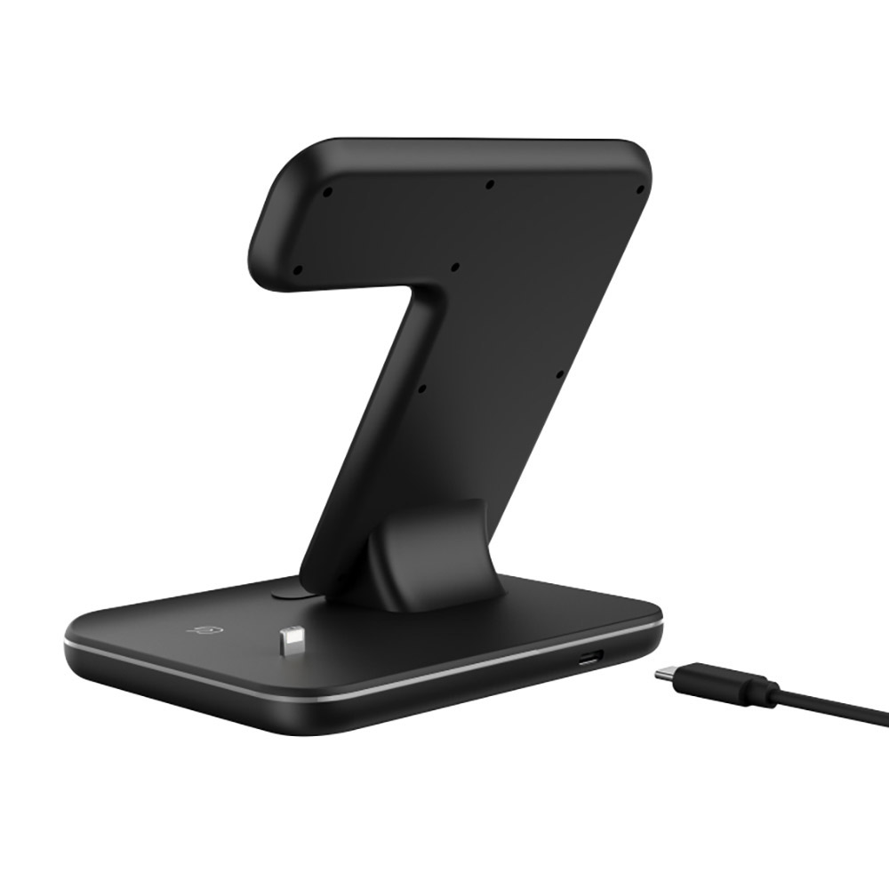 4 2 15W Wireless Charger For iPhone8 X XS MAX XR 8 Fast Wireless Full load 3 in 1 Charging Pad for Airpods 2019 Apple Watch 4 3 2 1 (5)