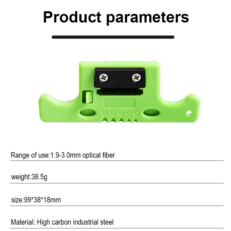 ONTi Fiber Optical Cable Ribbon Stripper Miller MSAT 5 Loose Tube Buffer Mid-Span Access Tool 1.9mm to 3.0mm Replaceable Blade