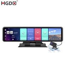 Автомобильный видеорегистратор HGDO, 12 дюймов, IPS, GPS, 4G, Android 8,1, ADAS, FHD 1080P, двойной объектив, 2G + 32G
